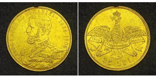 25 Leu Romania Gold Carol I of Romania (1839 - 1914)