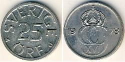 25 Ore Sweden Copper/Nickel