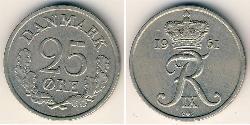 25 Ore Dinamarca Níquel/Cobre