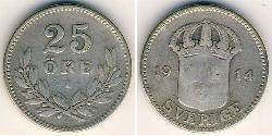 25 Ore Schweden Silber