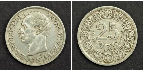 25 Ore Denmark Silver Frederick VIII of Denmark (1843 - 1912)