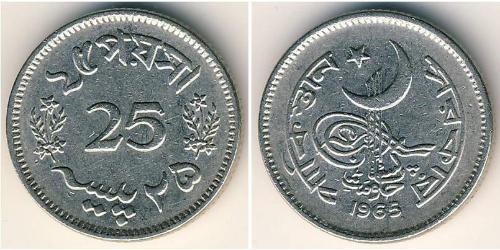 25 Paisa Pakistan (1947 - ) Nickel