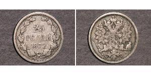25 Penny Granducato di Finlandia (1809 - 1917) Argento Nicola II (1868-1918)