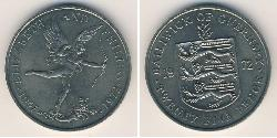 25 Penny Guernsey Copper/Nickel