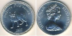 25 Penny Isle of Man Copper/Nickel Elizabeth II (1926-)