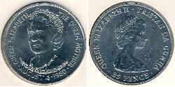 25 Penny Tristan da Cunha Copper/Nickel Elizabeth II (1926-)