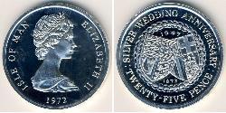 25 Penny Isle of Man  Elizabeth II (1926-)