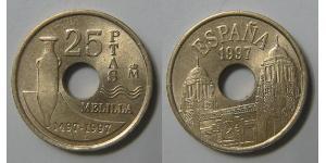 25 Peseta Reino de España (1976 - ) Aluminio/Bronce