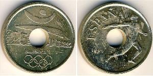 25 Peseta Reino de España (1976 - ) Bronze/Nickel Juan Carlos I (1938 - )