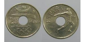 25 Peseta Regno di Spagna (1976 - ) Bronzo/Nichel Juan Carlos I (1938 - )