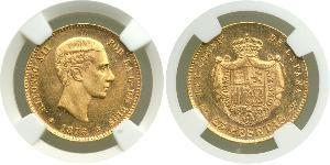 25 Peseta Kingdom of Spain (1874 - 1931) Oro Alfonso XII of Spain (1857 -1885)