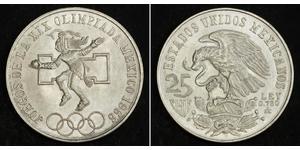 25 Peso Mexique (1867 - ) Argent