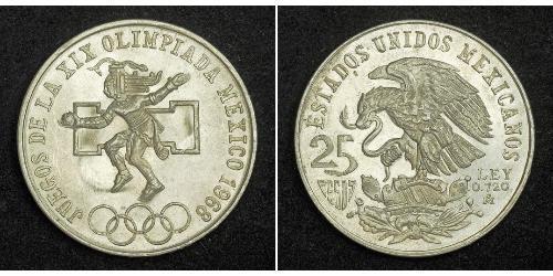 25 Peso Messico (1867 - ) Argento
