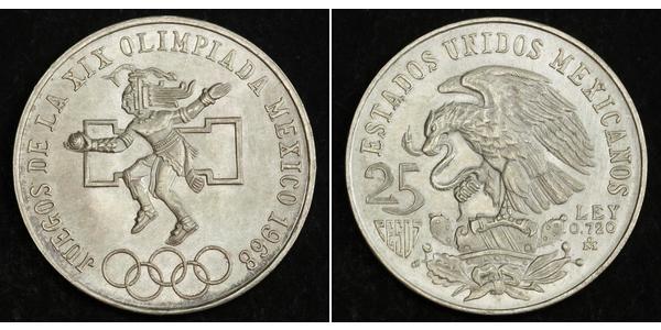 25 Peso México (1867 - ) Plata