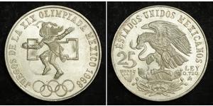 25 Peso Mexiko (1867 - ) Silber