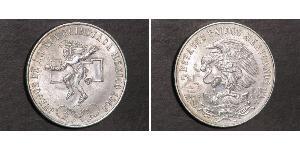 25 Peso United Mexican States (1867 - ) Silver