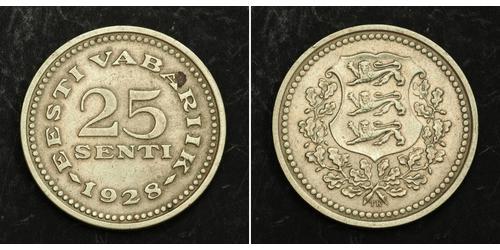 25 Sent Estonia (Republic) 青铜/镍