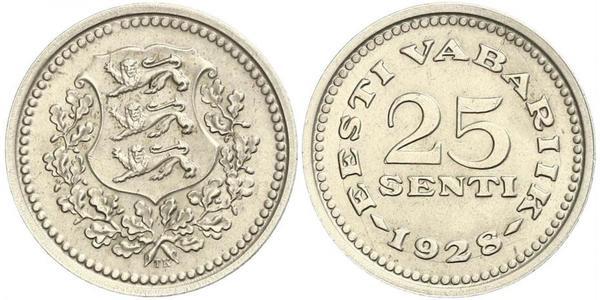 25 Sent Estonia (Republic) Bronze/Nickel