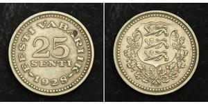 25 Sent Estonia (Republic) Bronzo/Nichel