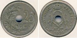 25 Sent Belgium Copper/Nickel