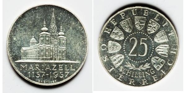 25 Shilling 奥地利 銀