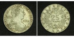 25 Shilling Republic of Austria (1955 - ) Argento Maria Theresa of Austria (1717 - 1780)