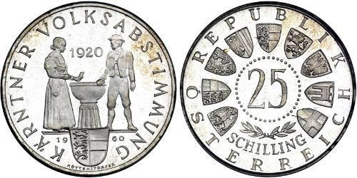 25 Shilling Republic of Austria (1955 - ) Argento