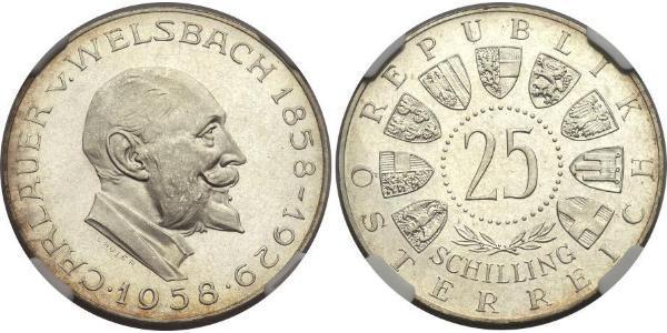 25 Shilling Republic of Austria (1955 - ) Argento