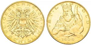 25 Shilling Federal State of Austria (1934-1938) Gold