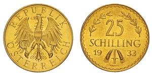 25 Shilling First Austrian Republic (1918-1934) Gold