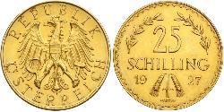 25 Shilling Geschichte Österreichs (1918-1934) Gold