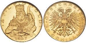25 Shilling Federal State of Austria (1934-1938) Oro