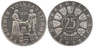 25 Shilling Republic of Austria (1955 - ) Plata