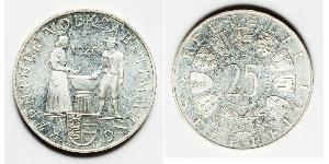 25 Shilling Republic of Austria (1955 - ) Plata