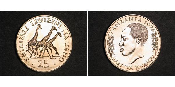 25 Shilling Tansania Silber