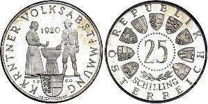 25 Shilling Republic of Austria (1955 - ) Silver