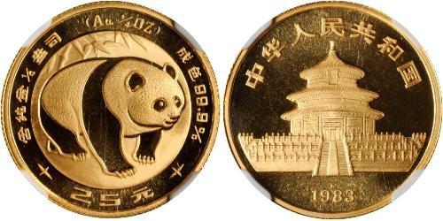 25 Yuan Cina Oro