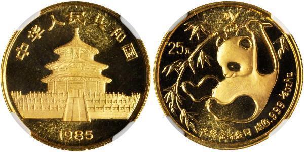 25 Yuan República Popular China Oro