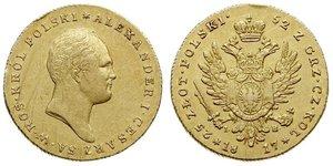 25 Zloty Kingdom of Poland (1815-1915) Gold Alexander I of Russia (1777-1825)