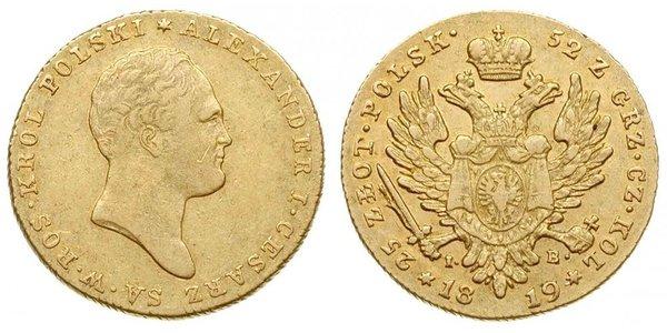 25 Zloty Kongresspolen (1815-1915) Gold Alexander I (1777-1825)
