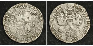 28 Stuiver Pays-Bas Argent Matthias, Holy Roman Emperor (1557 - 1619)