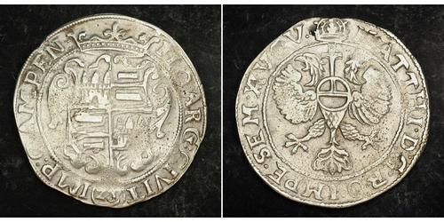 28 Stuiver Paesi Bassi Argento Matthias, Holy Roman Emperor (1557 - 1619)