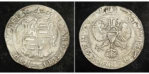 28 Stuiver Países Bajos Plata Matthias, Holy Roman Emperor (1557 - 1619)