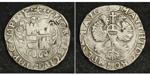 28 Stuiver Niederlande Silber Matthias, Holy Roman Emperor (1557 - 1619)