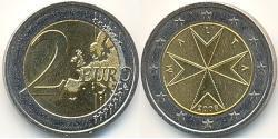 2 Євро Мальта Біметал