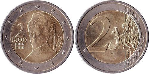 2 Євро Австрійська Республіка (1955 - ) Нікель