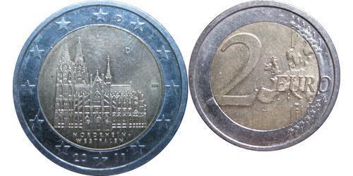 2 Євро Федеративна Республіка Німеччина (1990 - ) Нікель
