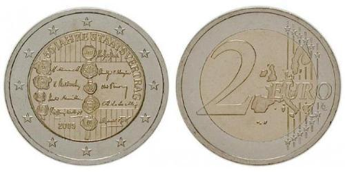 2 Євро Австрійська Республіка (1955 - ) Нікель/Мідь