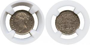 2 Анна Британська Ост-Індська компанія (1757-1858) / Індія Срібло Вікторія (1819 - 1901)