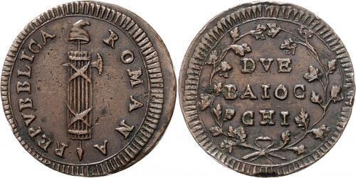 2 Байокко Папская область (752-1870) Медь